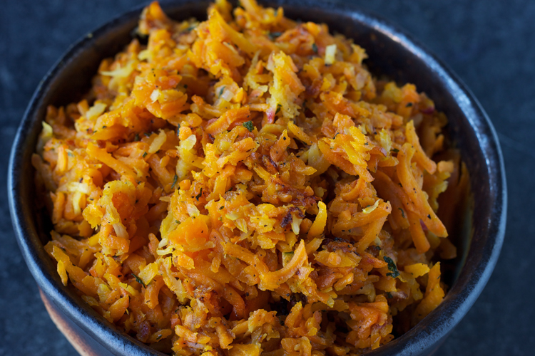 turnip sweet potato hash